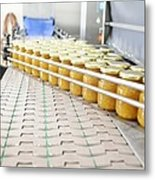 Preserve And Jam Bottling Production Line Metal Print