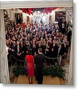 President And Michelle Obama Address Metal Print