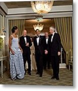 President And Michelle Obama Arrive Metal Print