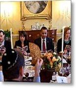 President Barack Obama Marks Metal Print