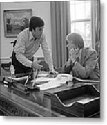 President Carter And His Chief Of Staff Metal Print by Everett