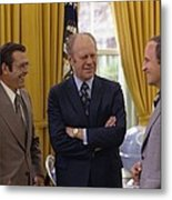 President Ford With Perennial Metal Print by Everett