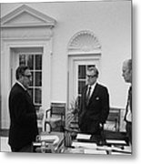 President Ford With Sec. Of State Henry Metal Print by Everett