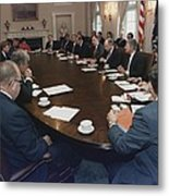 President George Bush Conducts A Full Metal Print