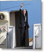 President George Bush Waves Good-bye Metal Print
