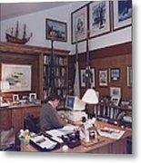 President George Bush Works Metal Print