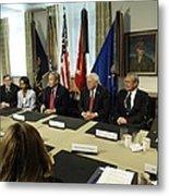 President George W. Bush And Members Metal Print