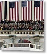 President George W. Bush Makes Metal Print by Stocktrek Images