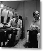 President Gerald Ford Aboard Air Force Metal Print by Everett