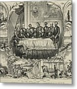 President Grant With Group Of Men Metal Print by Everett