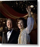 President Jimmy Carter And First Lady Metal Print by Everett