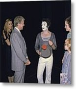 President Jimmy Carter Rosalynn Carter Metal Print