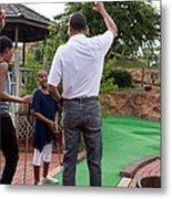 President Michelle Obama React Metal Print by Everett