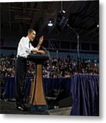 President Obama Promotes Health Care Metal Print by Everett