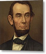 President Of The United States Of America - Abraham Lincoln  Metal Print