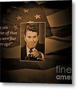 President Reagan Metal Print