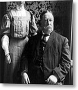 President William Howard Taft With Daughter Metal Print by International  Images