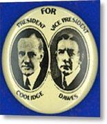 Presidential Campaign, 1924 Metal Print
