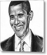 Presidential Smile Metal Print