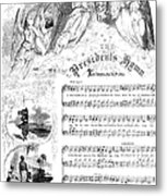 Presidents Hymn, 1863 Metal Print