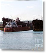 Presque Isle Ship Loading Metal Print