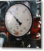 Pressure Dial, Natural Gas Industry Metal Print