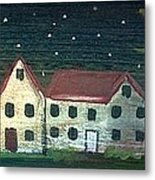 Prim Houses All In A Row Metal Print