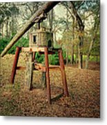 Primitive Sugar Cane Mill Metal Print