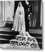 Princess Elizabeth And Prince Philip Metal Print