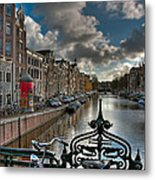 Prinsengracht And Leidsestraat. Amsterdam Metal Print
