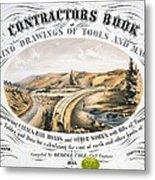 Print Shows Construction Of A Railroad Metal Print