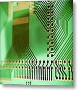 Printed Circuit Board Metal Print by Arno Massee