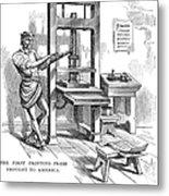 Printing Press, 1639 Metal Print