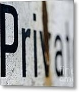 Private Metal Print