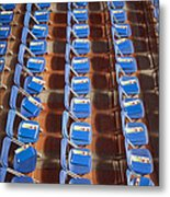 Programs On Rows Of Seating Metal Print by Marlene Ford