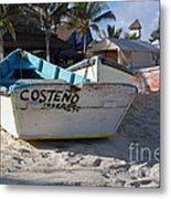 Progreso Mexico Fishing Boat Metal Print