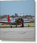 Propeller Plane Chicago Airplanes 09 Metal Print