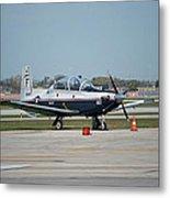 Propeller Plane Chicago Airplanes 10 Metal Print