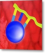 Protein Synthesis, Artwork Metal Print by Gombert, Sigrid