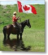Proudly Carrying The Flag Metal Print
