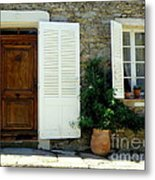 Provence Door Number 4 Metal Print