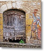 Provence Window And Wall Painting Metal Print