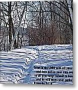 Proverbs 3 V 5 And 6 Metal Print