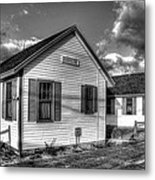 Provincetown Cottages Bw Metal Print