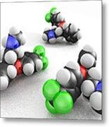 Prozac Molecules Metal Print by Phantatomix