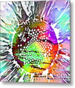 Psychedelic Daisy 2 Metal Print