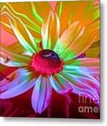 Psychedelic Flower Metal Print by Doris Wood