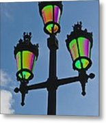 Psychedelic Streetlamps Metal Print