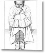 Psychiatric Patient, 19th Century Metal Print by King's College London
