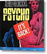 Psycho, Top Left Anthony Perkins Top Metal Print